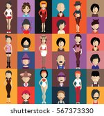 people avatar   with full body... | Shutterstock .eps vector #567373330