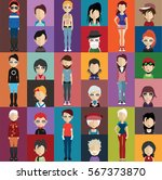 people avatar   with full body... | Shutterstock .eps vector #567373870