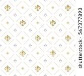 seamless vector golden and... | Shutterstock .eps vector #567377893