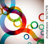 colorful circles background | Shutterstock .eps vector #56737978