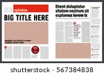 modern graphical design newspaper template | Shutterstock vector #567384838