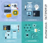 quantum processes 2x2 design...   Shutterstock .eps vector #567390919