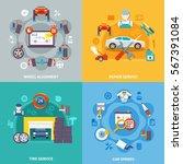 auto service 2x2 design concept ... | Shutterstock .eps vector #567391084