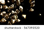 abstract 3d render diamonds set ... | Shutterstock . vector #567393520