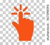 click vector icon. illustration ...