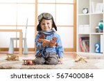 happy child toddler playing... | Shutterstock . vector #567400084