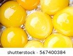 Many Egg Yolks Close Up....