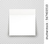 office paper sheet or sticky... | Shutterstock .eps vector #567403510
