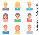 set of vector avatars | Shutterstock .eps vector #567414910