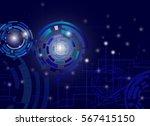 electronic circuit board on...