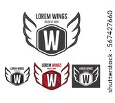 modern wings shield template... | Shutterstock .eps vector #567427660