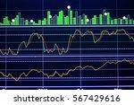 stock exchange board background | Shutterstock . vector #567429616