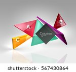 vector 3d triangle abstract... | Shutterstock .eps vector #567430864