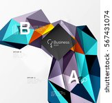 low poly polygonal triangle... | Shutterstock .eps vector #567431074