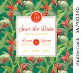 save the date  invitation ... | Shutterstock .eps vector #567431140