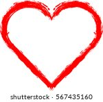 hearts . grunge stamps... | Shutterstock .eps vector #567435160