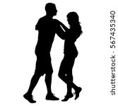 black silhouettes dancing on... | Shutterstock .eps vector #567435340