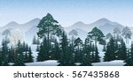 seamless horizontal winter... | Shutterstock .eps vector #567435868
