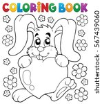 coloring book valentine topic 2 ... | Shutterstock .eps vector #567439060