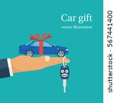 car gift concept. man holding...