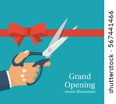 grand opening concept.... | Shutterstock .eps vector #567441466