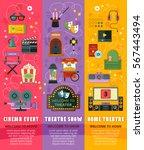 cinema  theatre  home theatre... | Shutterstock .eps vector #567443494