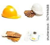 standard construction safety... | Shutterstock . vector #567444688