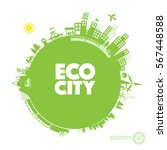 green eco city   abstract... | Shutterstock .eps vector #567448588