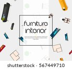 abstract vector background with ... | Shutterstock .eps vector #567449710