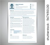 resume and cv template. flat... | Shutterstock .eps vector #567450130