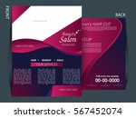 colorful background and flyer... | Shutterstock .eps vector #567452074