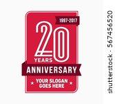 20th anniversary logo. vector... | Shutterstock .eps vector #567456520