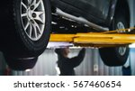 car lifted in automobile... | Shutterstock . vector #567460654