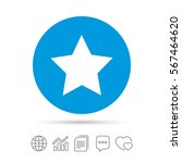 star sign icon. favorite button.... | Shutterstock .eps vector #567464620