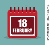 calendar with 18 february in a...
