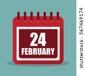calendar with 24 february in a...