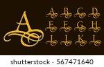 vintage set 1. calligraphic... | Shutterstock .eps vector #567471640