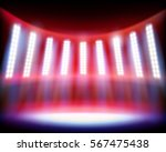 stadium lighting. vector... | Shutterstock .eps vector #567475438