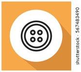clothes button vector icon | Shutterstock .eps vector #567483490