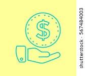 money icon flat. | Shutterstock .eps vector #567484003