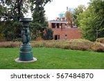 courtyard fountain | Shutterstock . vector #567484870