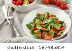 Fresh Healthy Salad With Leaf...
