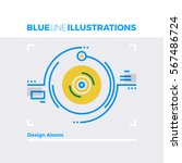 blue line illustration concept... | Shutterstock .eps vector #567486724