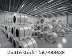 3d rendering roll of steel...   Shutterstock . vector #567488638
