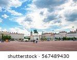 The Bellecour Square. Statue O...