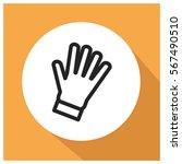 gloves vector icon   Shutterstock .eps vector #567490510