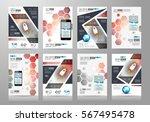 set of brochure templates ... | Shutterstock .eps vector #567495478