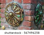 detail of beautiful old wall... | Shutterstock . vector #567496258