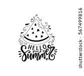 hello summer hand drawn... | Shutterstock .eps vector #567499816