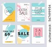 sale website banners web... | Shutterstock .eps vector #567499954